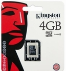 Kingston MicroSD Card HC 4GB class 4 - geheugenkaart